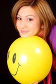 Girl with balloon — Stock Photo