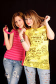 Two young girlfriends — Stock Photo