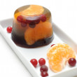 Jelly with mandarin orange — Stock Photo