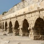 Ancient Roman Aqueduct, Israel — Stock Photo #1395401