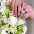 Bridal Hands And Rings — Stock Photo