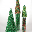 Christmas Trees of Ornaments - Stock Photo