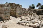 Ancient Ruins At Megiddo, Israel — Stock Photo