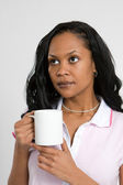 Business Woman With Coffee — Stock Photo