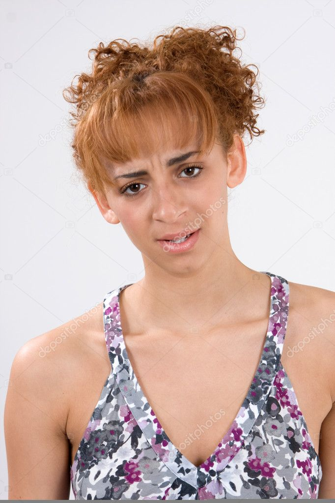 A young woman showing the emotion of disappointment and defeat. — Stock Photo #1395868