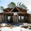 House Destroyed By Hurricane - Stock Photo