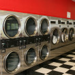 Stock Photo: Laundromat Dryers