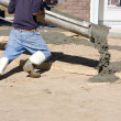 Man Pouring Concrete — Stock Photo #1413941