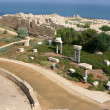 Ruins At Caesarea Maritima, Israel - Stock Photo