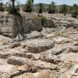 Ruins At Tel Megiddo, Israel - Stock Photo