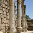 Ruins of Basilica in Capernaum, Israel - Stock Photo