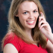 Talking On Cellular Phone — Stock Photo