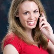 Stock Photo: Talking On Cellular Phone