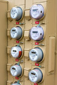 Electric Meters For Apartments — Stock Photo