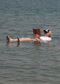 Floating On Dead Sea — Stock Photo