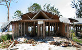 House Destroyed By Hurricane — Stock Photo