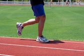 Man Running Track — Stock Photo