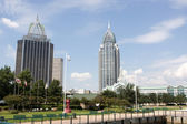 Mobile, Alabama Skyline — Stock Photo