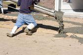Man Pouring Concrete — Stock Photo