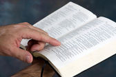 Reading Bible — Stock Photo