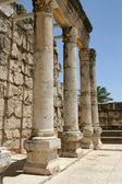 Ruins of Basilica in Capernaum, Israel — Stock Photo