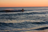 Surfer at Sunset — Stockfoto