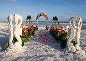 Wedding Path & Archway — Stock Photo