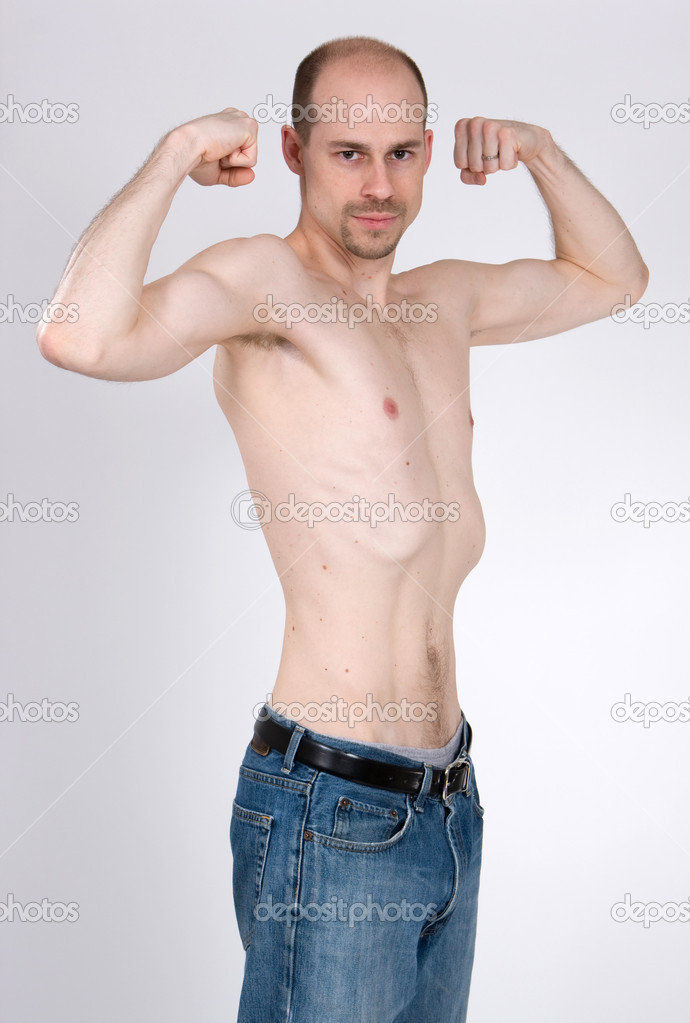 Skinny Man — Stock Photo © sframe #1414313 Skinny Man