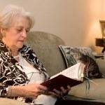Senior Adult Bible Study — Stock Photo