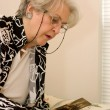 Stock Photo: Senior Adult Reminisces