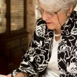 Senior Woman Writing Letter — Foto Stock