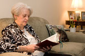 Senior Adult Bible Study — Stock Photo