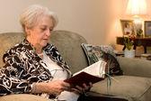 Studio della bibbia adulto senior — Foto Stock