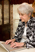 Senior Adult Working At Home — Stock Photo