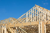 Truss Roof Construction — Stock Photo