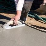 Finishing Concrete Sidewalk — Stock Photo #1619657