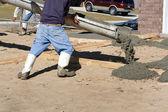 Pouring Concrete Driveway — Stock Photo