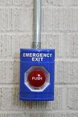 Emergency Exit Push Button — Zdjęcie stockowe