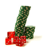 Gambling attributes — Stock Photo