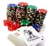 Gambling attributes — Stock Photo
