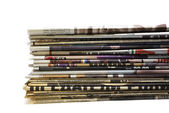 Stack of newspapers — Stock Photo