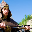 European wearing Mongolian armour — Stock Photo