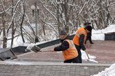 Snow removal — Stockfoto