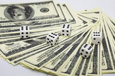 Dollars & dices — Stock Photo