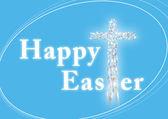 Tarjeta de felicitación de Pascua feliz — Foto de Stock