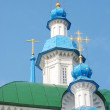 Blue orthodox church — Stock Photo