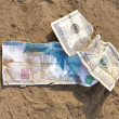 Crumpled money — Stock Photo