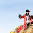 Man in Mongolian costume — Stock Photo #1406711