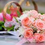 Brides bouquet — Stock Photo