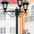 Forged street lamp — Stock Photo